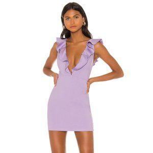 NEW NBD x Naven Ruffle Purple Mini Dress Small G92